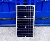 単結晶 ソーラーパネル 30W+10Aチャージコントローラーセット!12V蓄電に