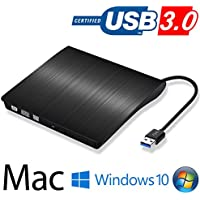 DVD ドライブ外付け USB 3.0 DVD プレイヤー ポータブルドライブ CD/DVD読取・書込 DVD±RW CD-RW USB3.0/2.0 Window/Mac OS両対応 高速 静音 超スリム