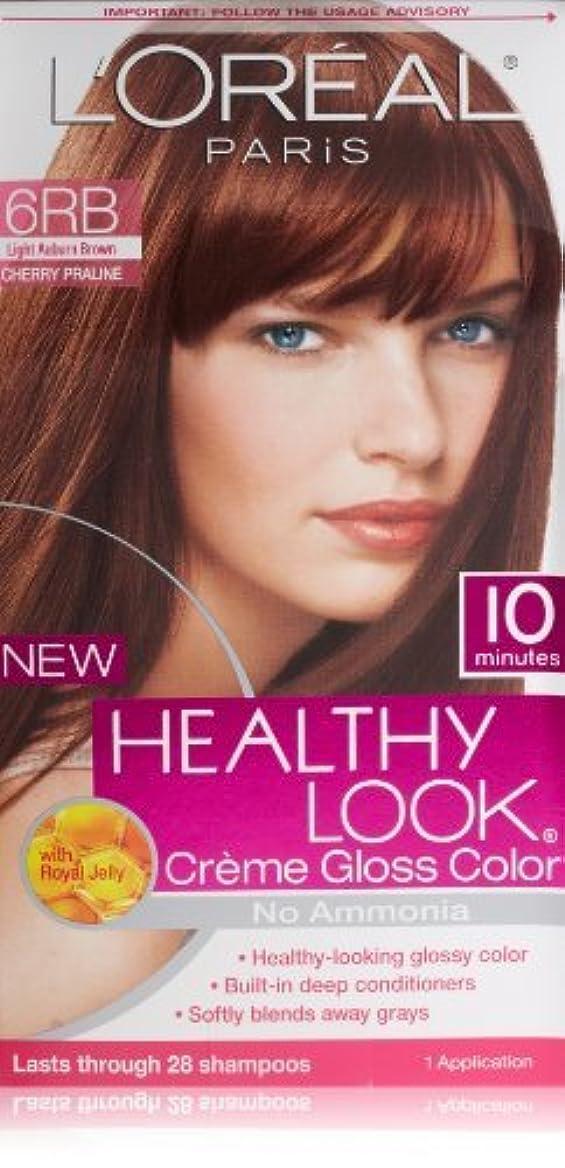 マニア審判緊張L'Oreal Healthy Look Creme Gloss Hair Color, 6RB Dark Red Brown/Cherry Chocolate by L'Oreal Paris Hair Color [...