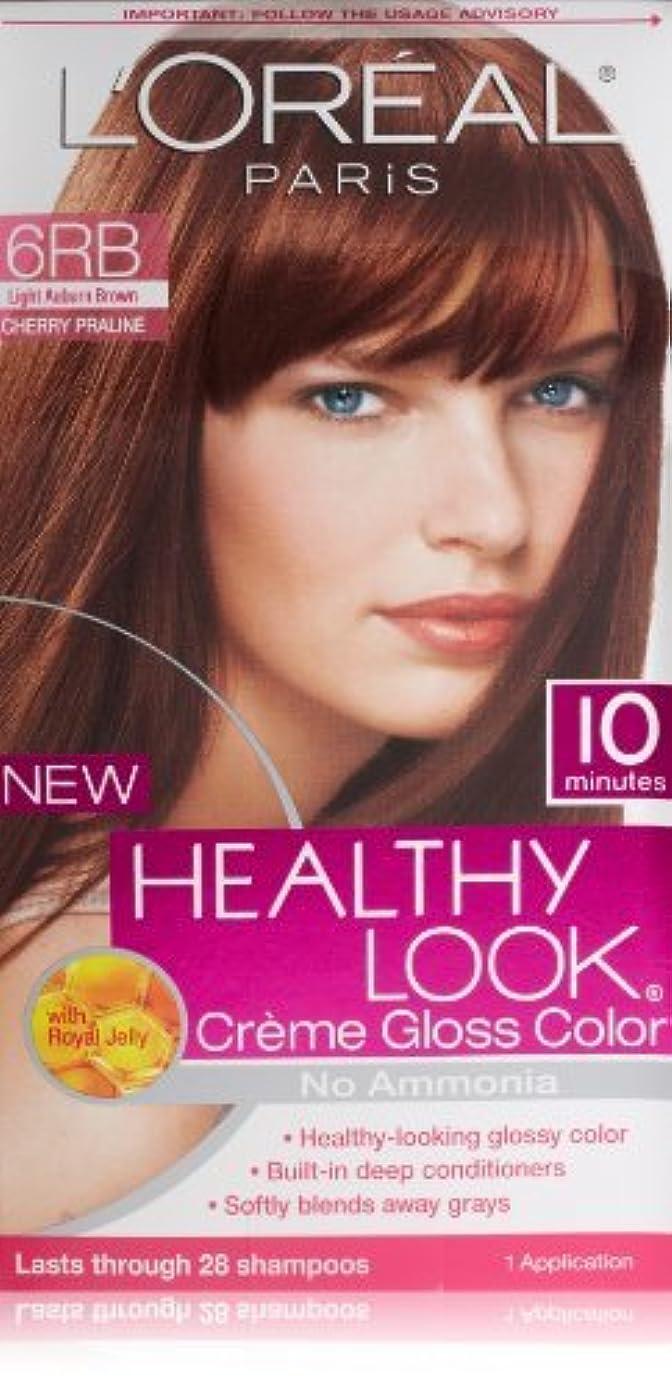 教育者パーク恨みL'Oreal Healthy Look Creme Gloss Hair Color, 6RB Dark Red Brown/Cherry Chocolate by L'Oreal Paris Hair Color [並行輸入品]