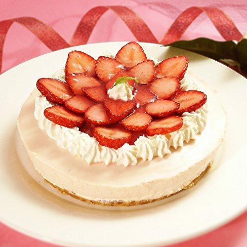 誕生日ケーキ 季節のフルーツレアチーズケーキ(苺)(ローソク・誕生日プレート付)(いちご イチゴ フルーツケーキ バースデーケーキ スイーツ ギフト