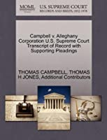 Campbell V. Alleghany Corporation U.S. Supreme Court Transcript of Record with Supporting Pleadings