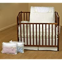 Baby Doll Bedding Classic Bows Mini Crib/ Port-a-Crib Set, Ecru by BabyDoll Bedding