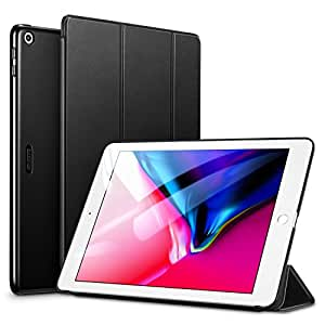 ESR iPad 9.7 2018/2017 ケース 軽量 薄型 レザー 三つ折スタンド オートスリープ機能 スマートカバー 全5色 2017年と2018年発売の9.7インチ iPad 対応(モデル番号A1822、A1823、A1893、A1954)(ダークブラック)