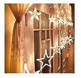 Homdox LED星イルミネーションライト 屋内外装飾用 ガーデン、ホームズ、結婚式、クリスマスパーティー 飾りスター (ウォームホワイト)