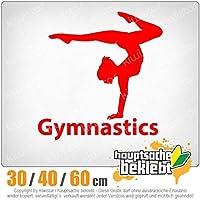 Gymnastics - 3つのサイズで利用できます 15色 - ネオン+クロム! ステッカービニールオートバイ