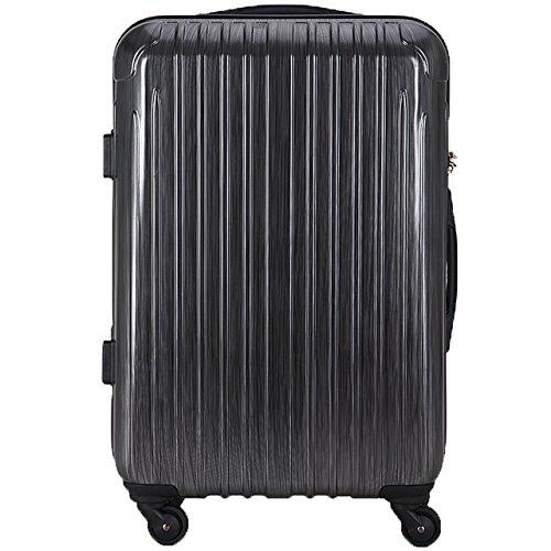 (ラッキーパンダ) Luckypanda スーツケース 大型 超軽量 Lサイズ TSAロック アウトレット TY001キャリーバッグ キャリーケース かわいい 旅行用バック ファスナー ハード 旅行用バック 旅行かばん Suitcase Luggage amazon (L, ストライプグレー)