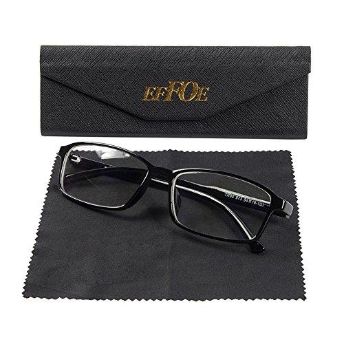 EFFOE ブルーライト50%カット UV紫外線カット99%対策PC用メガネ PC眼鏡 パソコン眼鏡超軽量 パソコン用メガネ おしゃれ 可愛 軽量型メラニンレンズ 度なし男女兼用/レッド/ブラック