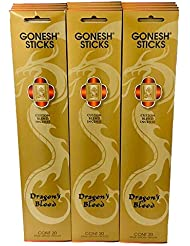 Gonesh Incense Dragon 's Bloodゴールド値セット(合計12パック、240 Sticks )