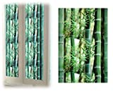 (K-JOY) ステンドグラス風 窓ガラスフィルム ガラスシート /窓目隠し 窓ステッカー (取説付) F290 (45cm×1M, 竹)
