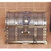 ジュエリーボックス ドラクエ装飾 宝箱風 アンティーク小物入れ 鍵付 大サイズ [銅色]