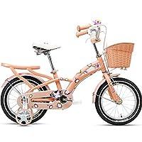Axdwfd 子ども用自転車 キッズバイク自転車のトレーニングホイール14/16インチ男の子と女の子のための子供に適したサイクリング3〜5ピンクブルーライトピンクローズレッド (色 : Light pink, サイズ さいず : 16in)