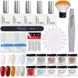 Coscelia Dip Powder Nail Starter Kit 10 Colors Dipping Powder System for French Nail Manicure Tools Set
