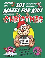 101 Mazes For Kids: SUPER KIDZ Book. Children - Ages 4-8 (US Edition). Cartoon Bear Christmas List with custom art interior. 101 Puzzles with solutions - Easy to Very Hard learning levels -Unique challenges and ultimate mazes book for fun activity time! (Superkidz - Christmas 101 Mazes for Kids)