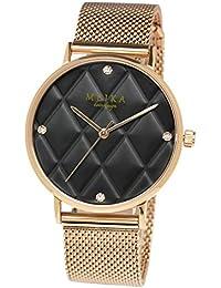 [メイカ]MEIKA 腕時計 ウォッチ 36mm キルティング文字盤 ファッション レディース