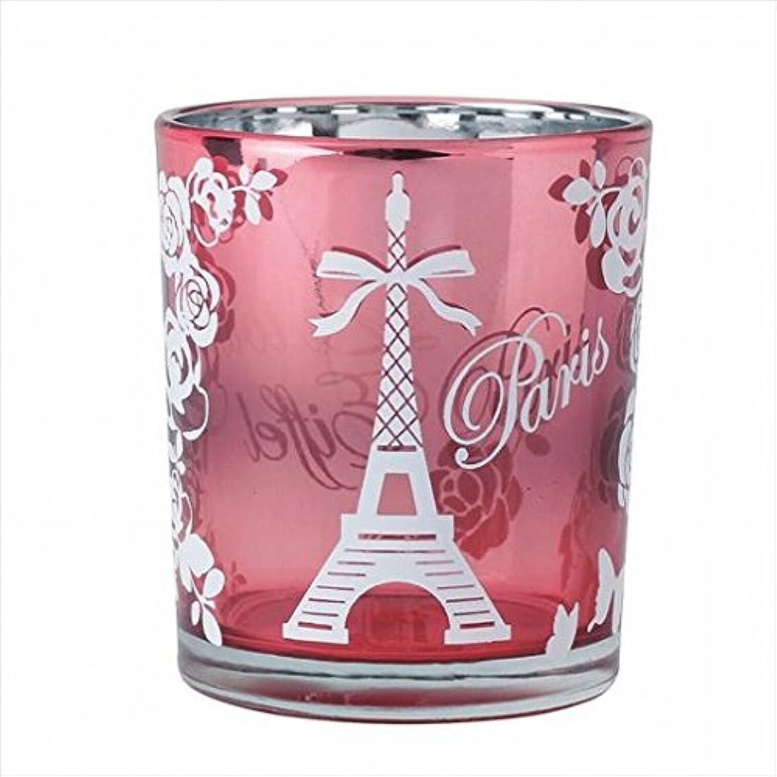 哺乳類二次魂カメヤマキャンドル(kameyama candle) エッフェル塔オーロラカップ 「 ピンク 」