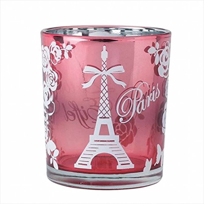 鉛筆限界モディッシュカメヤマキャンドル(kameyama candle) エッフェル塔オーロラカップ 「 ピンク 」