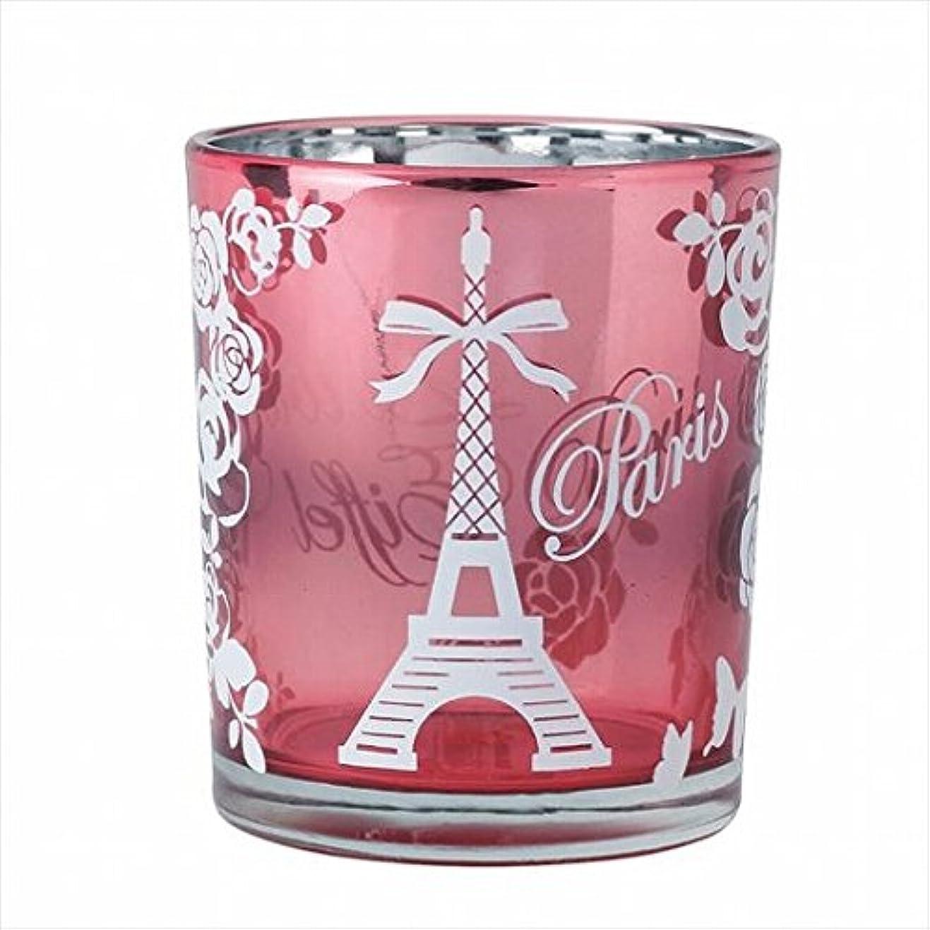 博覧会格納十億カメヤマキャンドル(kameyama candle) エッフェル塔オーロラカップ 「 ピンク 」