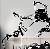 Lixiaoer ビニール壁デカールセクシーなヌードガールバイクで美しいボディステッカー取り外し可能なアート壁画用寝室用リビングルームの装飾42×47センチ