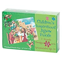 Zacchaeus Sees Jesus 11 x 8 Cardboard 24 Piece Childrens Puzzle and Devotion [並行輸入品]