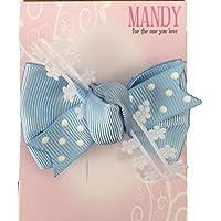 MANDY Baby Boutique Bow Aqua