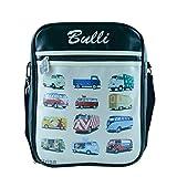 フォルクスワーゲン ブリー VW Bulli ショルダーバッグ かばん クロスボディー 斜め掛け (ワンサイズ) (ブラック/クリーム)
