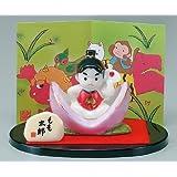 五月人形 コンパクト 陶器 小さい おとぎ話 桃太郎/彩絵もも太郎/こどもの日 端午の節句 初夏 お祝い 贈り物 プレゼント