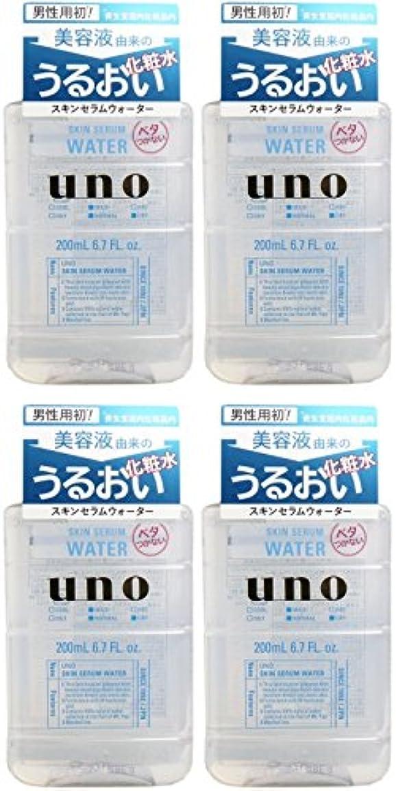 予防接種起きている覗く【まとめ買い】ウーノ スキンセラムウォーター 男性用化粧水 200ml【×4個】
