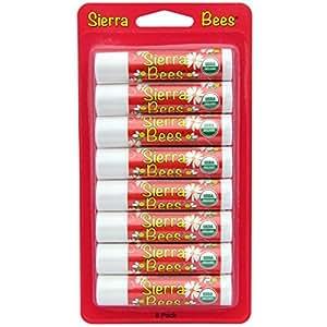 Sierra Bees オーガニック・リップクリーム、ザクロ、8本入り [並行輸入品]