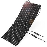 ソーラーパネル ALLPOWERS 100W 18V 12V 曲げ可能 ソーラーチャージャー 高効率単結晶 (ETFE層 MC4コネクタ付き) ソーラー充電器 太陽光発電 フレキシブル 超薄型 防水 防振 防塵 車 RV ボート キャビン テント等に対応 充電器