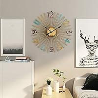 ファッション ブラウン壁掛け時計北欧クリエイティブ・メタル錬鉄時計ウォールクロック500 * 500(mm)の 装飾
