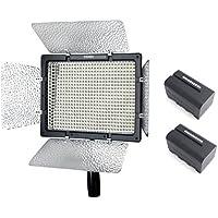 Yongnuo YN-600L II YN600L IIプロLEDビデオライト3200K-5500K色温度Canon Nikon DSLRカメラDVおよびビデオカメラ用 + 2PCS WINGONEER NP-F770 バッテリーとバッテリー充電器