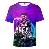 Geafos トップス Tシャツ エーペックスレジェンズ カジュアル Apex Legends ショートスリーブ シャツ Tシャツ 個性 高級ティーシャツドット 創意デザイン ゲーム風 半袖スウェット 通気 吸汗速乾 肌触り良い 快適 size M