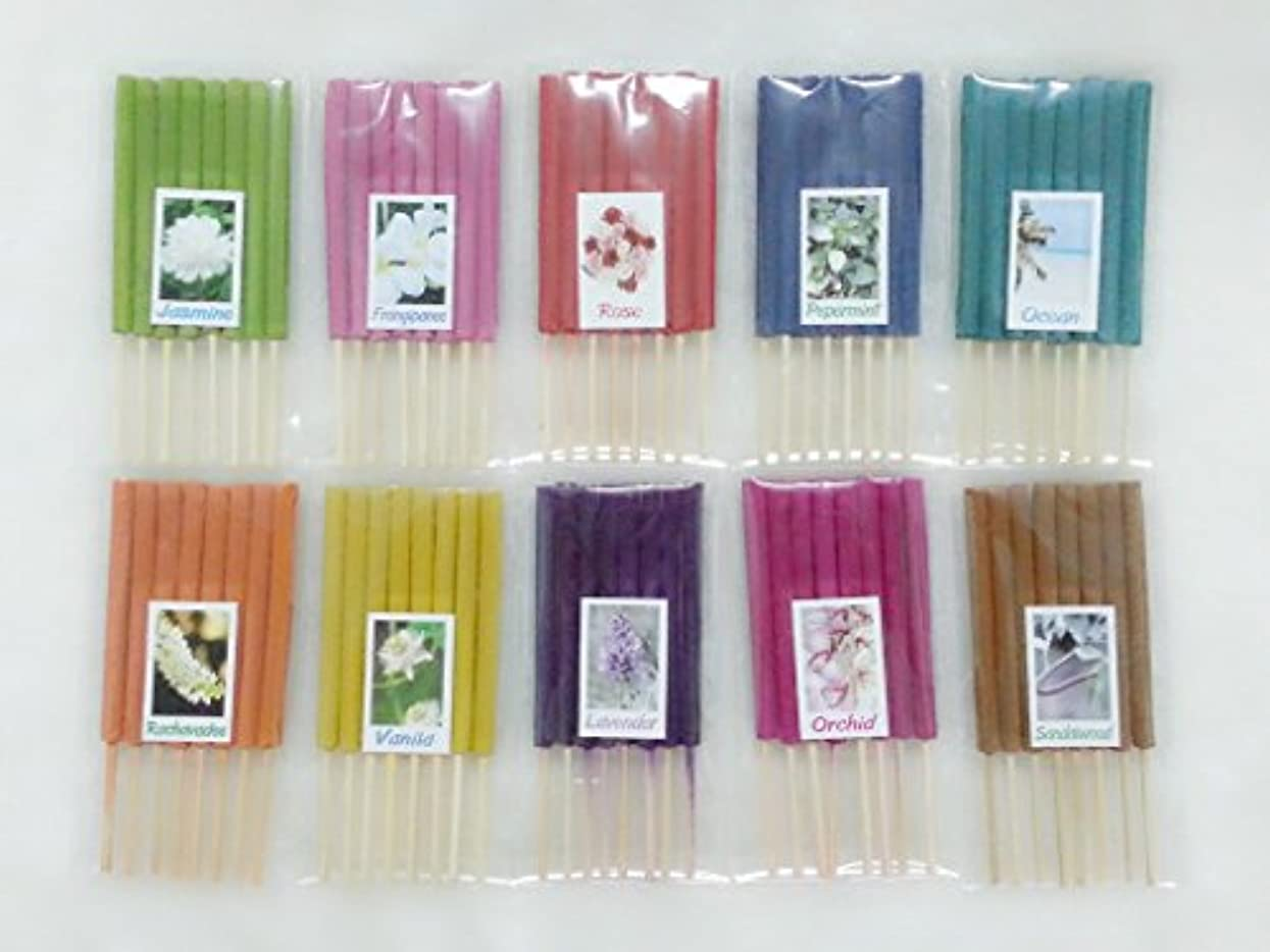 事故ファシズムプロトタイプセット7 Mixアロマ10 Scents 80 Sticks Mini Incense Sticks Thai Spaアロマセラピーホームのハーブ&香料、長さ3インチ