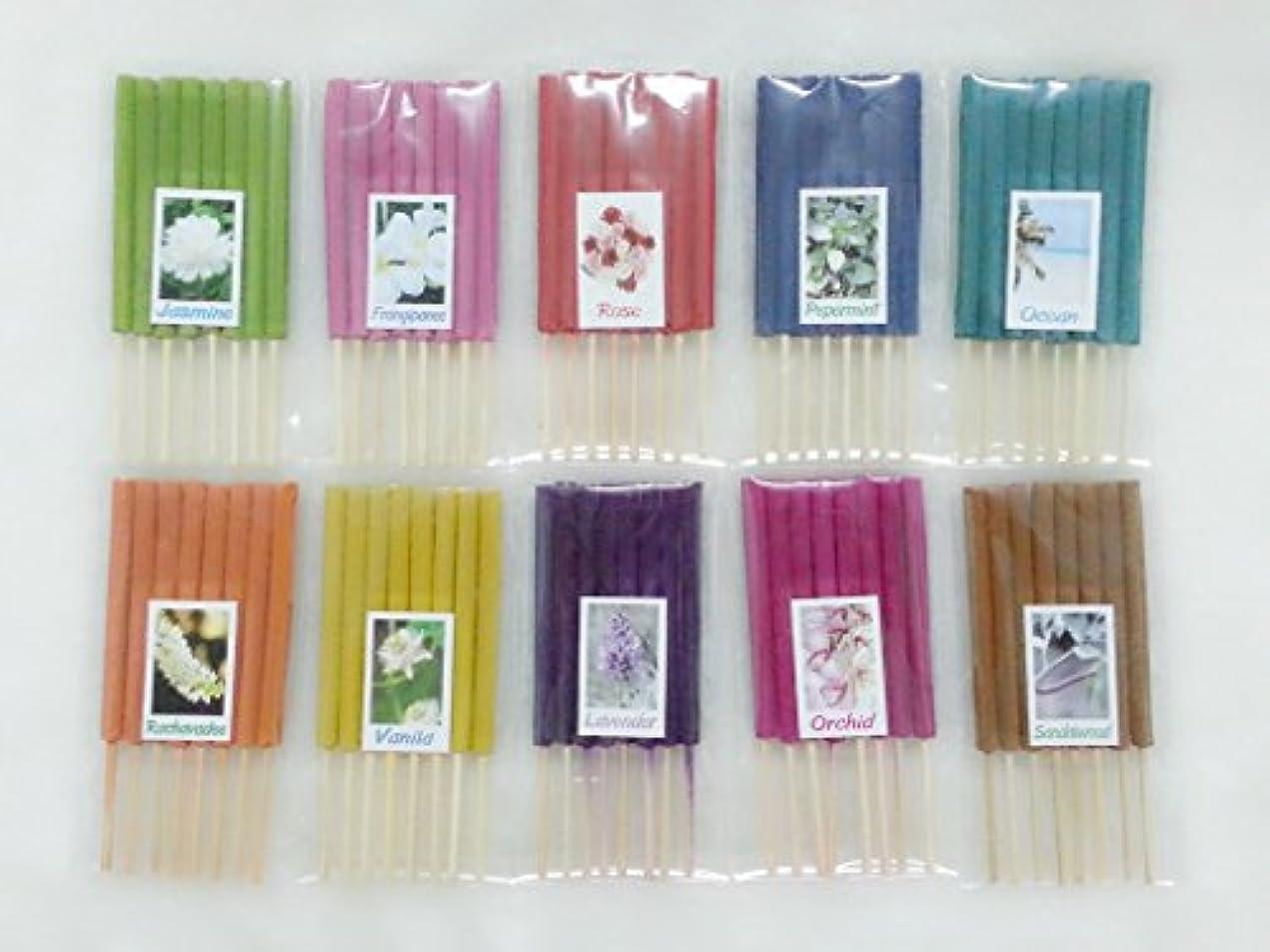 サーマル餌石膏セット7 Mixアロマ10 Scents 80 Sticks Mini Incense Sticks Thai Spaアロマセラピーホームのハーブ&香料、長さ3インチ