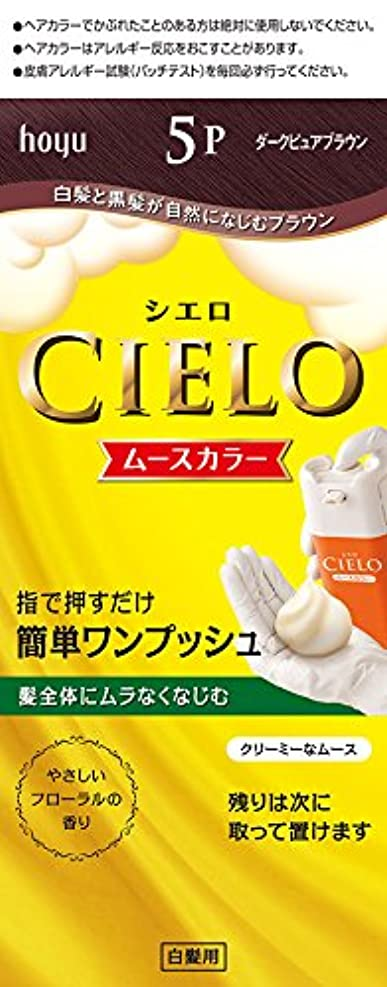 ホーユー シエロ ムースカラー 5P (ダークピュアブラウン) 1剤50g+2剤50g
