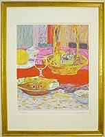 ◆神下雄吉◆【赤い布のある静物】リトグラフ版画◆フランス在住画家
