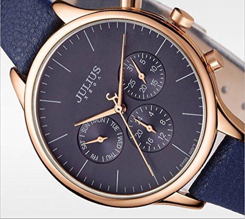 5dd09adb154d Julius JA-952E レディース 腕時計 スイス製クオーツ 日付 ユニセックス ...
