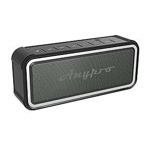 Anypro ポータブル Bluetooth スピーカー IP67防塵&防水認証 【全音域が自然のバランスで長時間持続再生】 低音強化 内蔵高質マイク搭載 NFC、Siri対応 デュアルドライバー臨場感 HFD-895