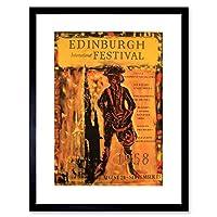 Ad Edinburgh Music Festival 1958 Scotland Scott Framed Wall Art Print エジンバラ音楽フェスティバルスコットランド壁