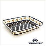 [Zaklady Ceramiczne Boleslawiec/ザクワディ ボレスワヴィエツ陶器] グラタン皿(スクエア)-479 ポーリッシュポタリー