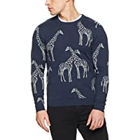 French Connection Men's Giraffe Crew Neck Knit