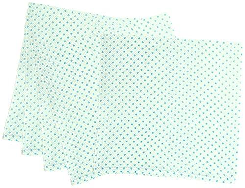 5枚組 ハーフサイズ ドビー織 水玉柄 仕立て布おむつ サックス TK713 日本製