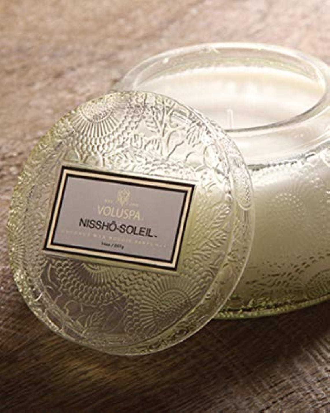 絶縁するに付ける風邪をひくVOLUSPA チャワングラスキャンドル Nissho-Soleil ニッショーソレイユ GLASS CANDLE ボルスパ