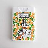 【ムーミン】 マスク用スプレー15ml オレンジ&ミント 消臭 除菌 ほのかな香り付け ムーミングッズ 日本製 携帯用 カード型