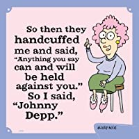 Tree-Free Greetings 60835 Hilarious Aunty Acid Premium Square ECOMagnet, 3.5 by 3.5-Inch, Johnny Depp [並行輸入品]
