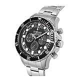 Guionnet Hydromasterダイバーメンズ腕時計、クロノグラフ、anti-reverse Diverベゼル関数、クォーツ、メタルシルバー