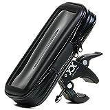 adelphos 360度回転 自転車 バイク 防水 防塵 ケース マウントキット マウント バー マウントホルダー iphone 各種スマホ対応 調整クッション3枚付き【製品保証3か月】 (Lサイズ)