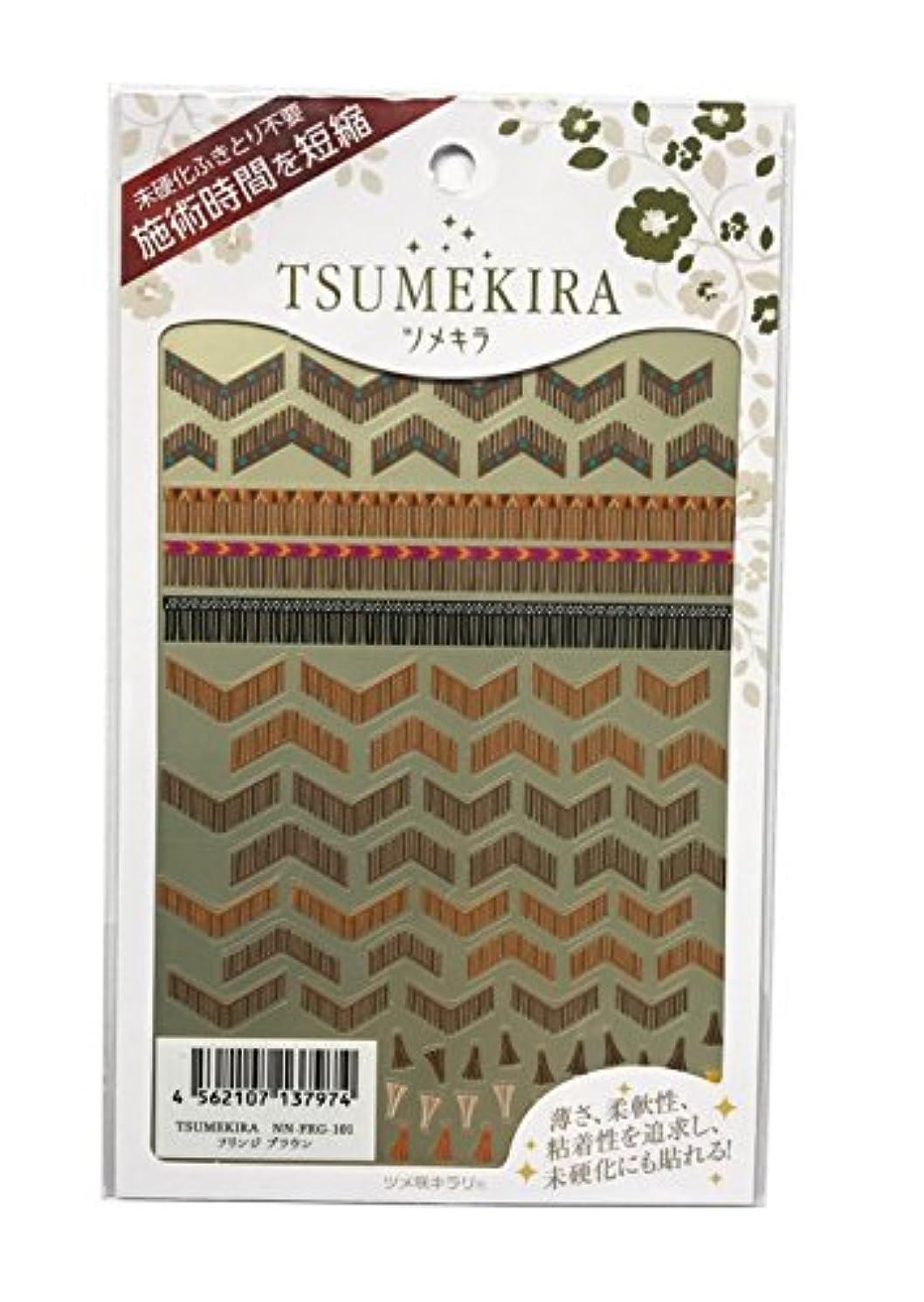 ミンチ啓発する不完全ツメキラ(TSUMEKIRA) ネイル用シール フリンジ ブラウン NN-FRG-101