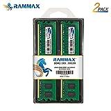 RamMax メモリ 2枚組 DDR2 667 PC5300 2GBX2 RM-LD667-D4GB DUAL 240pin DDR-SDRAM DIMM デスクトップ パソコン用 増設メモリ 4GB デュアル